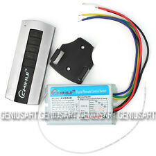 Interruttore senza Fili 4 CH Canali + Telecomando per Controllo Lampadine Luci