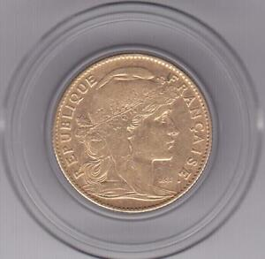 France 1906 Gold 10 Francs Rooster