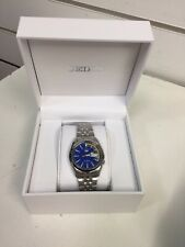 Seiko 5 Automatic Blue/yellow Dial Stainless Steel Mens Watch SNK371K1 Brand New