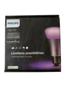 Philips Hue White and Color Ambiance Starter Kit, E26