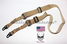 Tactical one or two point rifle sling w quick detach hook FDE TAN