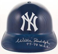 Willie Randolph Signed New York Yankees Full-Sz Replica Batting Helmet 77-78 WSC