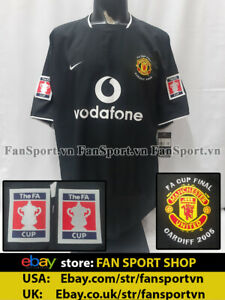 Manchester United FA Cup Final 2005 away shirt black jersey 2003 2004 BNWT XXL