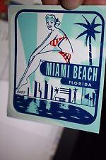 Bikini clad Miami Beach FL Travel Transfer Auto suitcase Decal