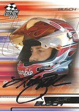 KURT BUSCH AUTOGRAPHED 2003 PRESS PASS STEALTH NASCAR PHOTO TRADING CARD #42