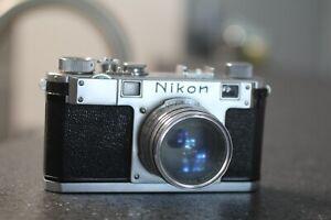 Nikon S Rangefinder 50 1.4 Nikkor S Lens 6098146 In Case
