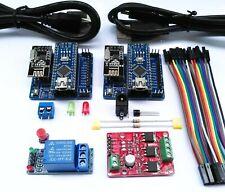 Kit IOTGEMINI domotica con Relè, led RGB, USB, sens. temperatura, Shield Arduino