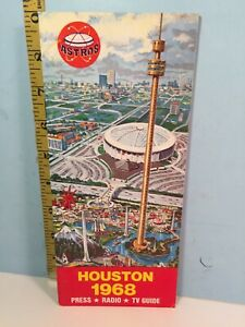 1968 Houston Astros Baseball Spring Media Guide, Roster & Schedule