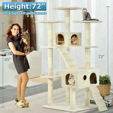 XL Cat Tree Scratcher Condo Big Tower Giant Castle Extra Large Tall Multi Indoor