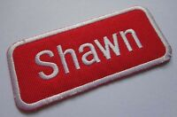 NAME TAG SHAWN EMBROIDERED IRON ON PATCH Free Shipping