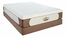 "Dynasty Mattress 12"" QUEEN High Quality GEL Memory Foam Mattress w/2 Gel Pillows"