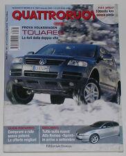 QUATTRORUOTE 2/2003 SUBARU FORESTER 2.0 – TOYOTA LAND CRUISER 3.0 D-4D WAGON