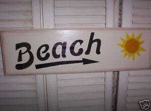 BEACH /arrow  wood sign  chic  Indoor outdoor pool