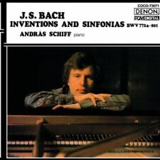 Andras Schiff - J. S. Bach: Inventions & Sinfonias. BWV 772A-801 [New CD] Blu-Sp