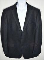 Hugo Boss Wool Charcoal Gray Sport Coat 2 Button Dual Vent Men's 42L Long RECENT