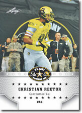 """CHRISTIAN RECTOR 2015 LEAF """"1ST EVER PRINTED"""" HIGH SCHOOL ARMY ROOKIE CARD!"""