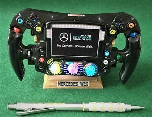 Lewis Hamilton_1/2 Size_Replica W10 steering wheel_F1_World Champion_Mercedes