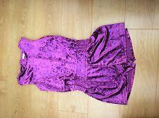 Girls 11-12 years Purple Short Playsuit velvet feel play suit