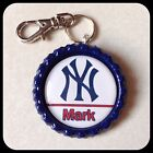 Personalized NY YANKEES New York Bottle Cap Name Necklace Jewelry, Zipper Pull