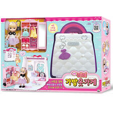 Little Mimi Clothing Shop Toy Set Korean Barbie Doll Bag Toy for Girl Kids