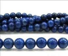 "8mm Blue Egyptian Lapis Lazuli Gemstone Round Loose Beads 15"""