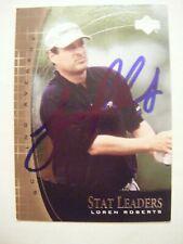 LOREN ROBERTS signed 2001 Upper Deck Stat Leader golf card AUTO Autographed SL16