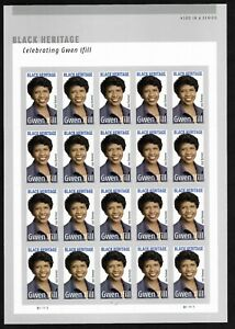 #5432 - Gwen Ifill  (forever) 2020 Issue- MNH Sheet of 20
