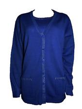 Paola! Damen Twin Set Royal Pullover Strickjacke Gr. 38 40 42 44 46 48 50 52 54