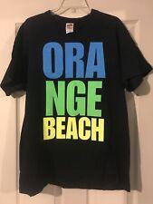 "Black ""Orange Beach"" Short Sleeve T-shirt - XL"