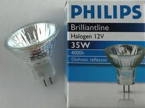 Philips Brilliantline 12v 35W 30º Dichroic MR11 GU4 Halogen Bulb 35MM 35 Watt L3