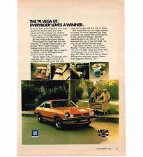1974 Chevrolet Chevy Vega Vintage Print Ad