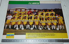 CLIPPING POSTER FOOTBALL 1990-1991 FC NANTES FCN CANARIS BEAUJOIRE