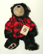 "Boyds Pa (Father) Bear Teddy Plush 14"" New in bag Tags NOS 2004 Plaid Shirt"