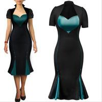 2020 Womens Pencil Wear Work Fishtail Bodycon Dress Formal Party Wiggle Dress