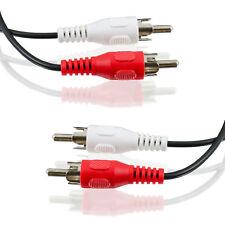 10m Cinch Kabel Audio Anschlusskabel 2 Stecker Stereo RCA HiFi (Chinch)