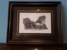 """African painting on fabric. Barkly East Cape. Signed CSM ?. 9.5"""" x7.5"""""""