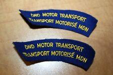 Cloth Shoulder Flashes-DND Motor Transport Canada