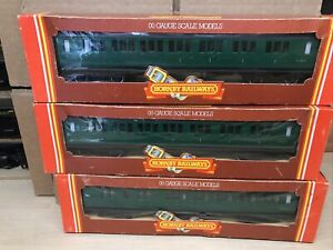 Boxed Hornby Green Southern Region Coaches X 3