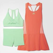 Adidas Women's Pro Player WTA Adizero Tennis Dress Red / Green S09308 Size UK 12