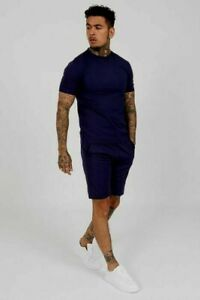 HISCOLUMN Montro Twinset in Navy  T Shirt & Shorts Size UK L