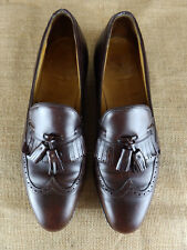 JOHNSTON MURPHY Aristocraft Kiltie Tassel Brown Leather Loafer Shoe Men 11.5 C A