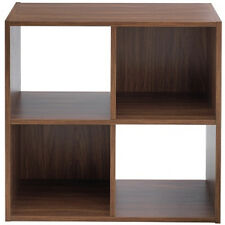 BOXX - 4 Square Cube Storage Shelf Unit / Display Shelves - Walnut ZAS011063555