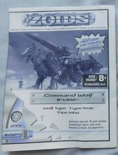 ZOIDS #024 COMMAND WOLF IRVINE ACTION FIGURE MODEL KIT INSTRUCTION BOOKLET