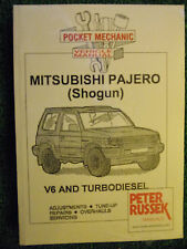 MITSUBISHI 4WD PAJERO SHOGUN V6 PETROL + Turbo-diesel WORKSHOP MANUAL 1993-1998