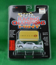 Racing Champions Mint 1964 Chevy Impala SS #38 White Car Emblem Stand 1996 MOC