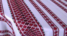 Tablecloth Decorative fabric Ukrainian ornament White red blk Wedding decor