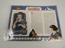 Willabee Ward Disney Collector Patch 1937 SNOW WHITE & FACT CARD