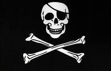 LARGE 5x3FT JOLLY ROGER PIRATE FLAG Skull Crossbones Caravan Camping Boat Kids