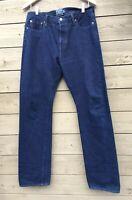 Men's DR COLLECTORS Union Made Indigo Denim Jeans USA Made 34 X 32