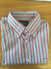 Camicia Faconnable Tg. 6-17 (XL) azzurro a righe rosse. Botton down.